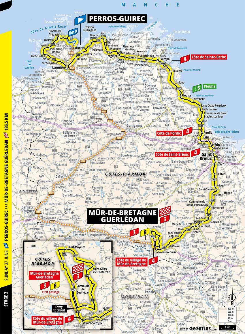 Tour de Francia 2021 - Etapa 2 - Recorrido