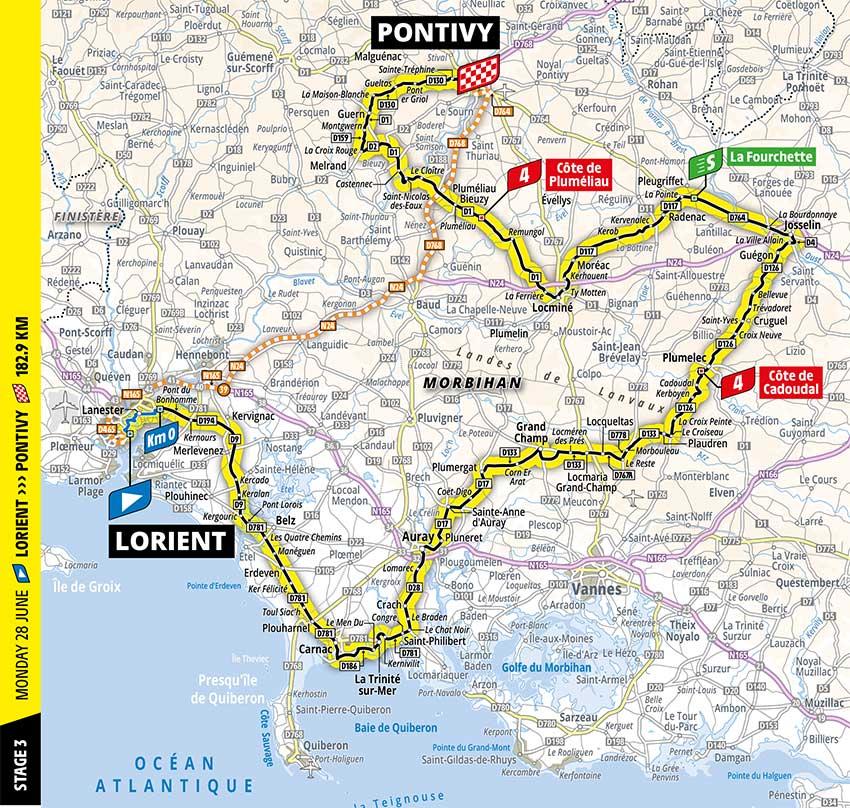 Tour de Francia 2021 - Etapa 3 - Recorrido