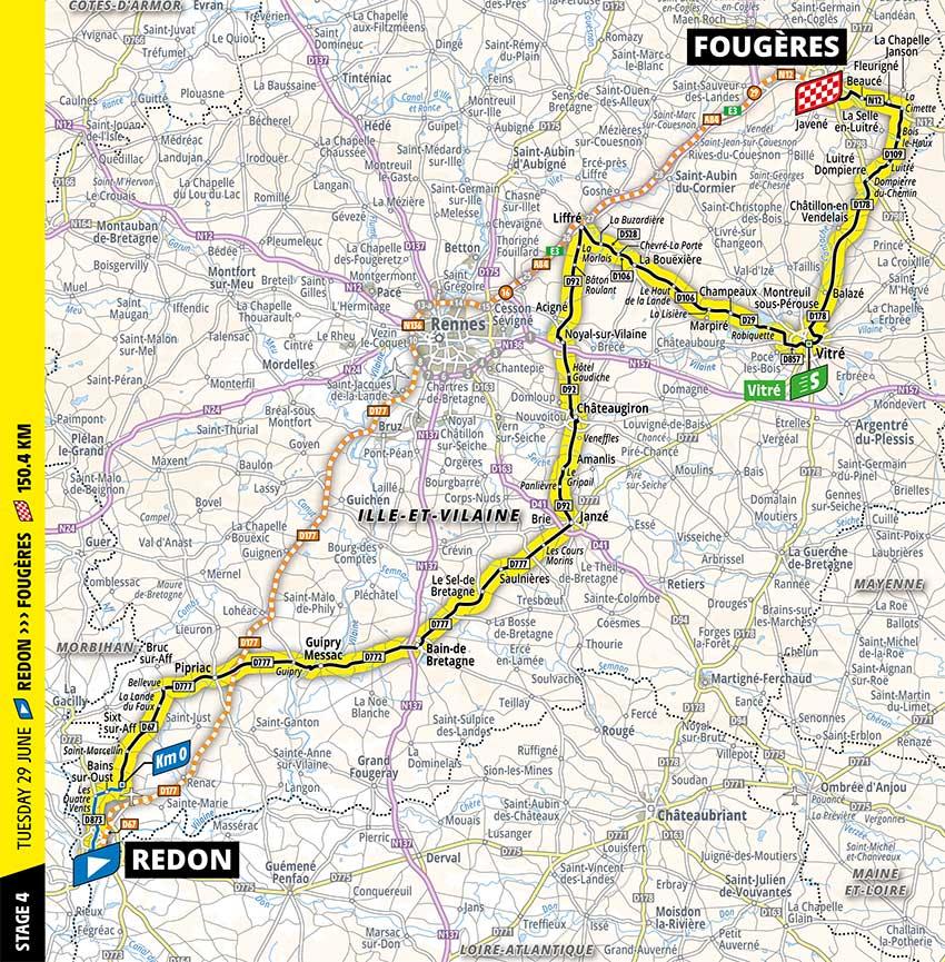 Tour de Francia 2021 - Etapa 4 - Recorrido