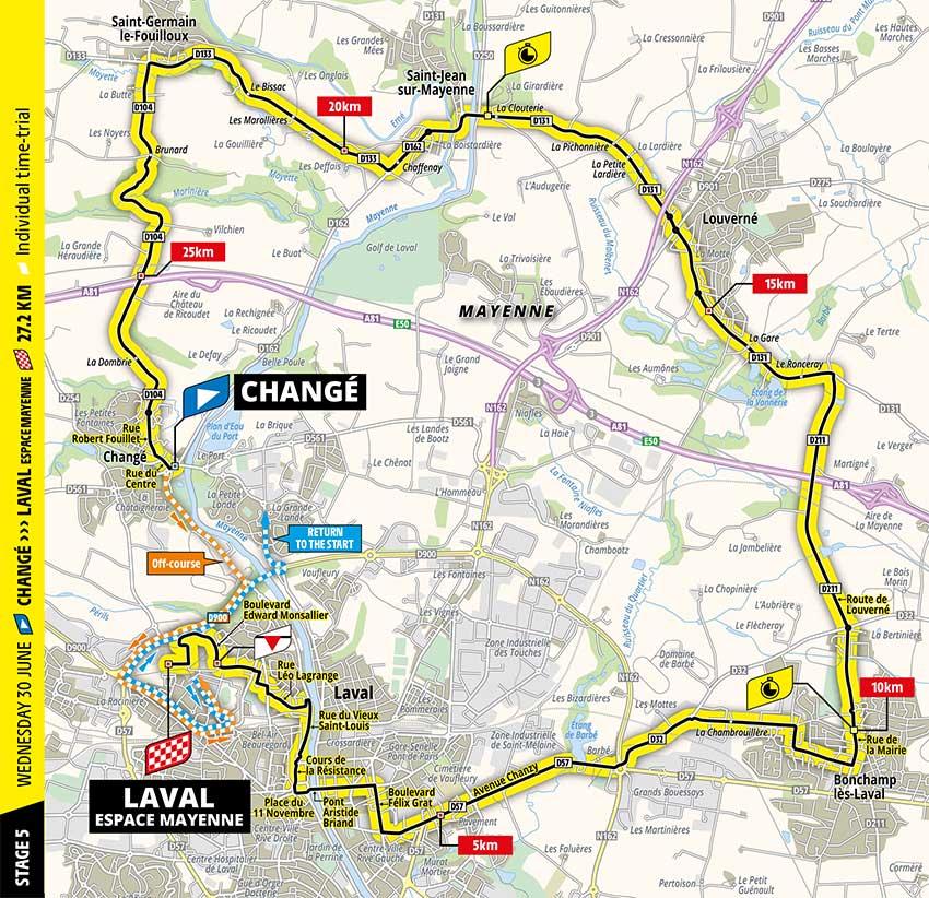 Tour de Francia 2021 - Etapa 5 - Recorrido
