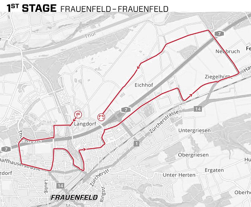 Tour de Suiza 2021 - Etapa 1 - Recorrido