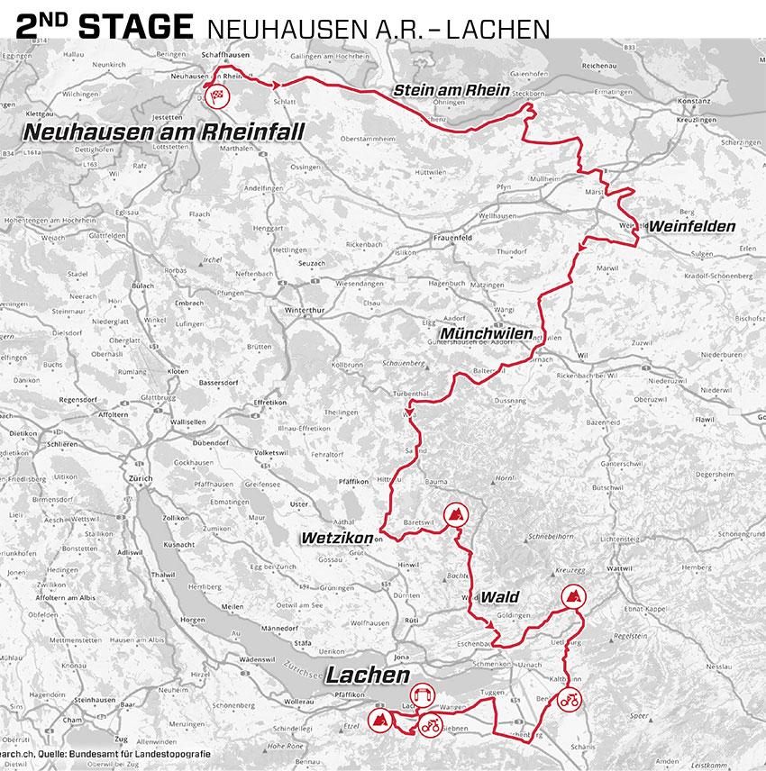 Tour de Suiza 2021 - Etapa 2 - Recorrido