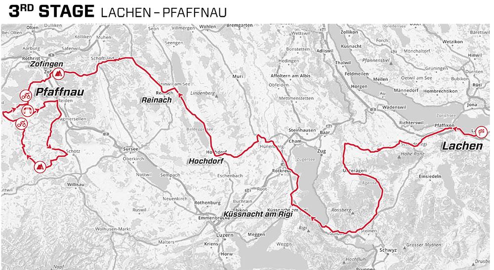 Tour de Suiza 2021 - Etapa 3 - Recorrido