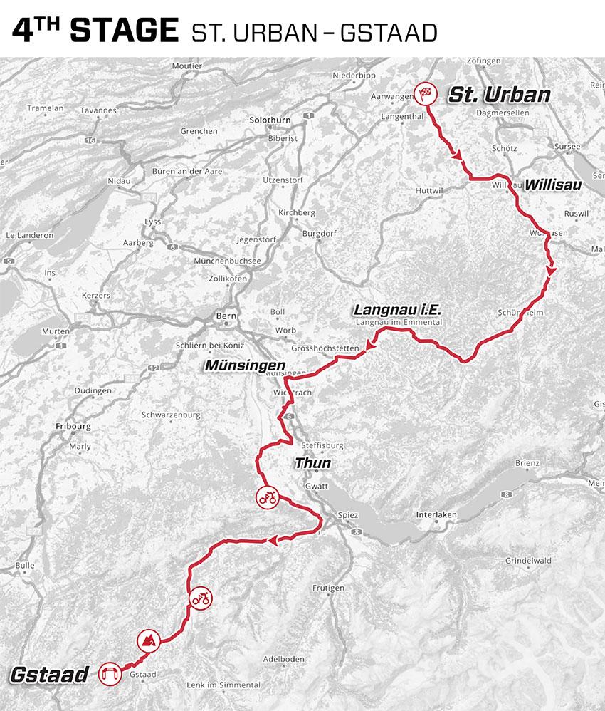 Tour de Suiza 2021 - Etapa 4 - Recorrido