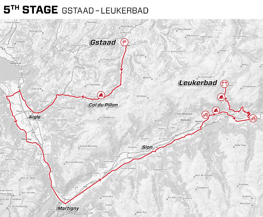 Tour de Suiza 2021 - Etapa 5 - Recorrido