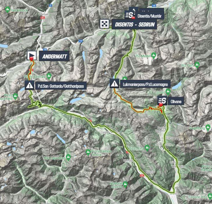 Tour de Suiza 2021 - Etapa 6 - Recorrido