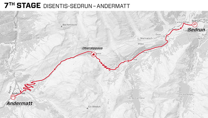 Tour de Suiza 2021 - Etapa 7 - Recorrido
