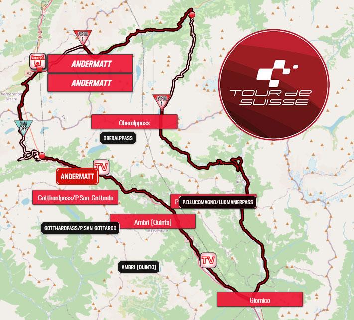 Tour de Suiza 2021 - Etapa 8 - Recorrido
