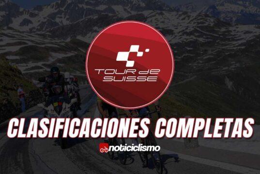 Tour de Suiza - Clasificaciones Completas