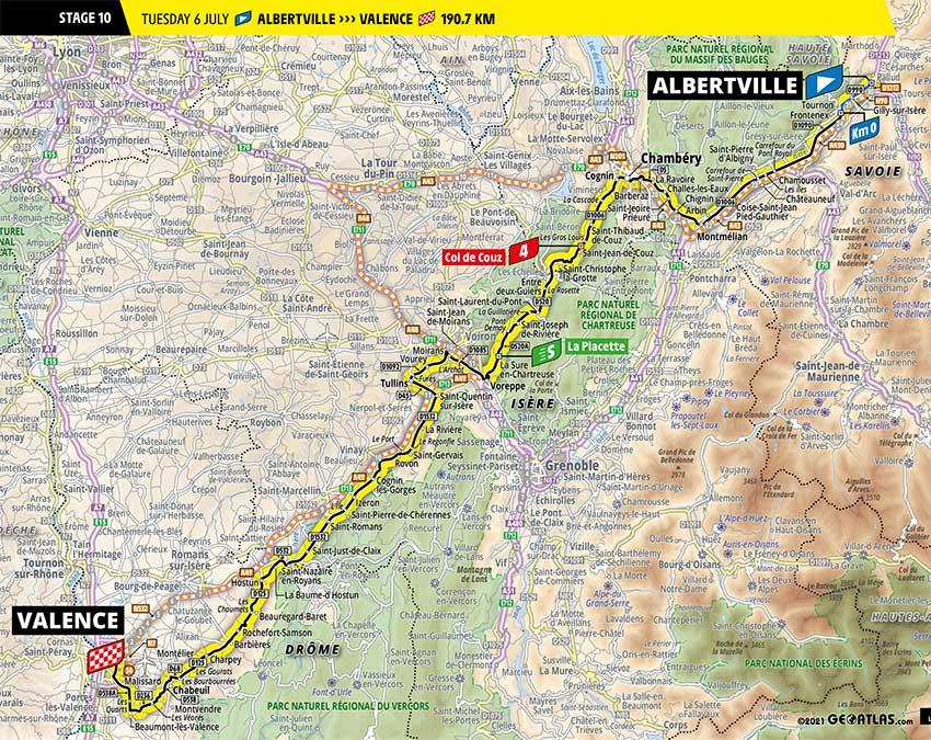 Tour de Francia 2021 - Etapa 10 - Recorrido