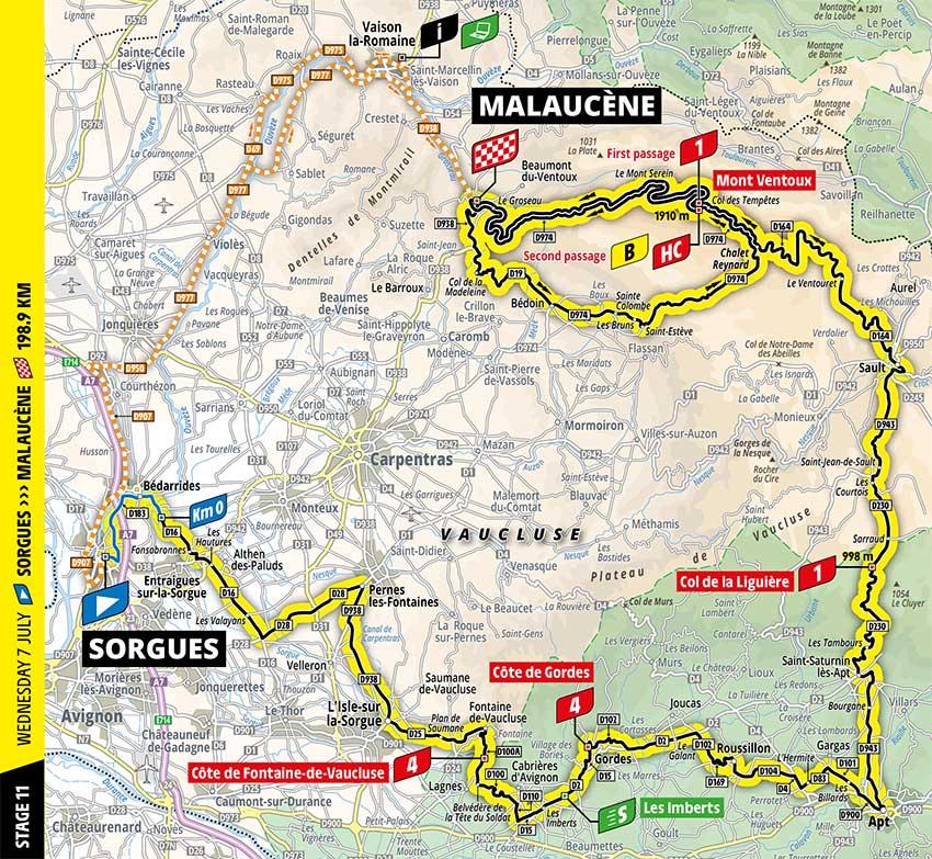 Tour de Francia 2021 - Etapa 11 - Recorrido