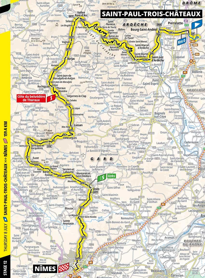 Tour de Francia 2021 - Etapa 12 - Recorrido