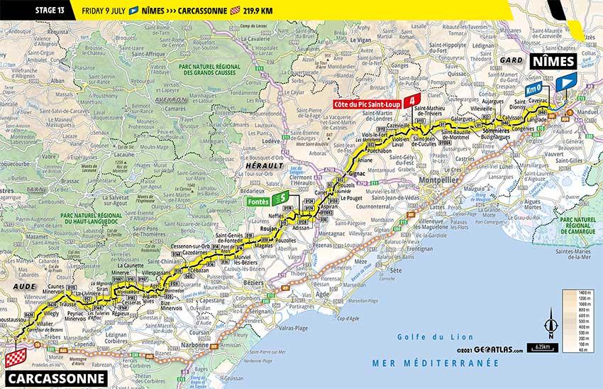 Tour de Francia 2021 - Etapa 13 - Recorrido