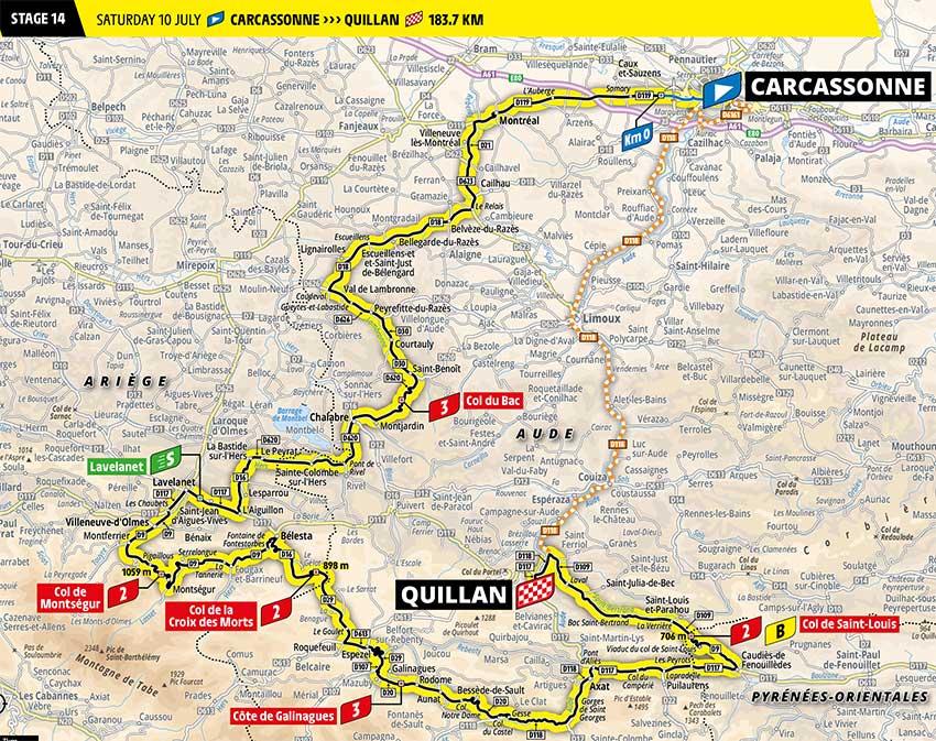 Tour de Francia 2021 - Etapa 14 - Recorrido
