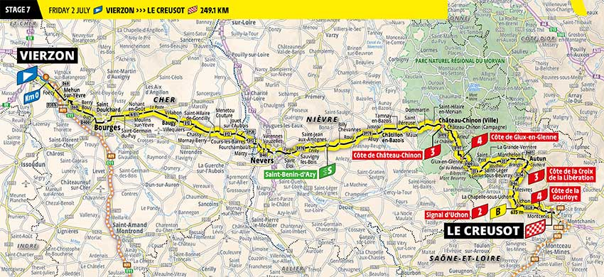 Tour de Francia 2021 - Etapa 7 - Recorrido