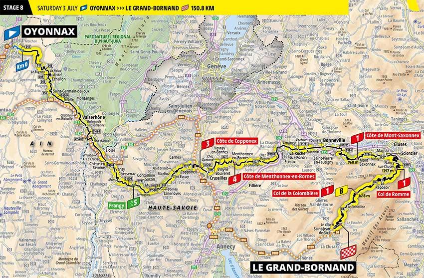 Tour de Francia 2021 - Etapa 8 - Recorrido