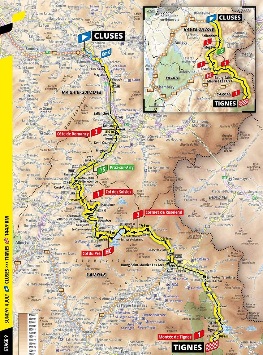Tour de Francia 2021 - Etapa 9 - Recorrido