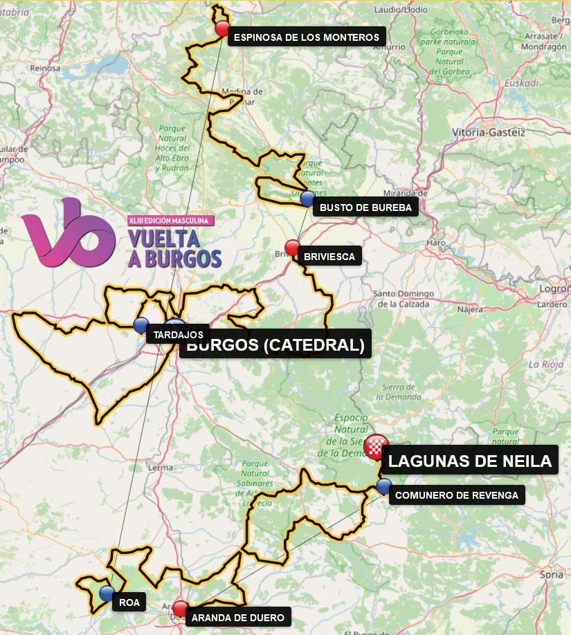 Recorrido de la Vuelta a Burgos 2021
