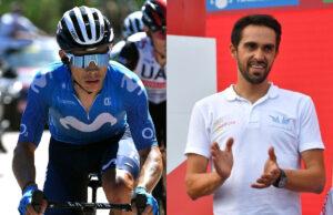 Alberto Contador y Miguel Ángel López