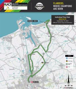 Recorrido de la Contrarreloj Individual de los Mundiales de Ciclismo de Ruta UCI 2021