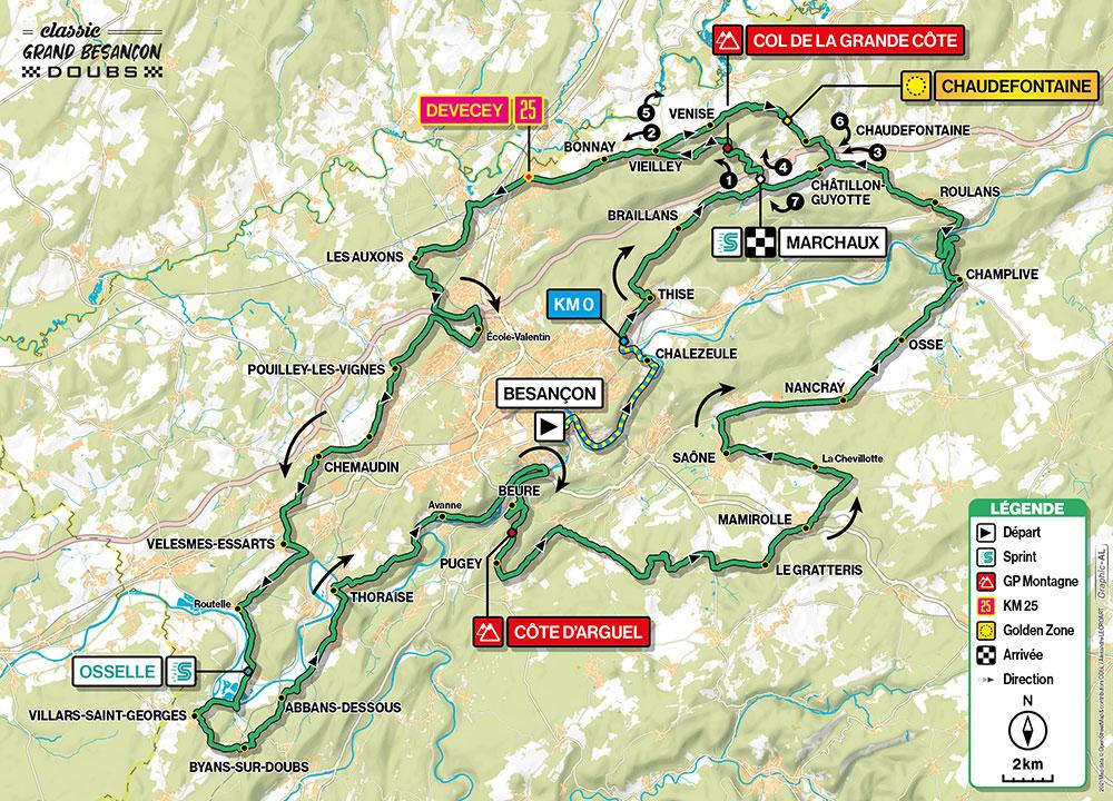 Classic Grand Besançon Doubs 2021 - Recorrido