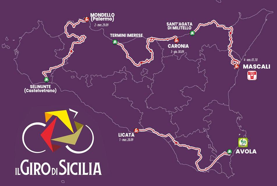 Recorrido del Giro di Sicilia 2021