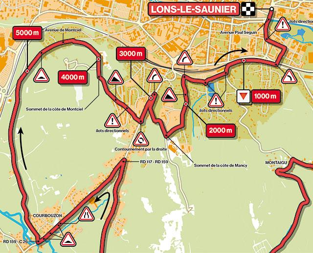 Recorrido últimos kilómetros del Tour du Jura 2021