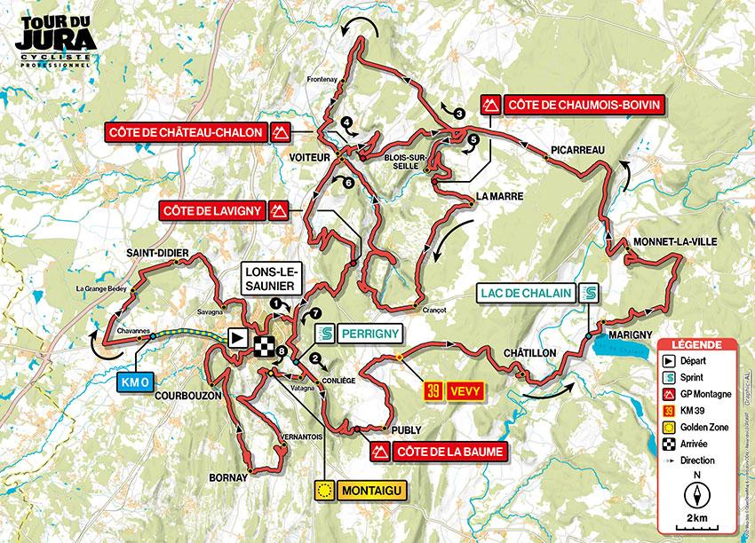 Recorrido del Tour du Jura 2021