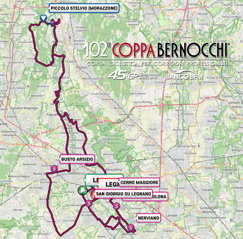 Recorrido de la Coppa Bernocchi 2021