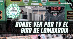 Donde ver por TV el Giro de Lombardía